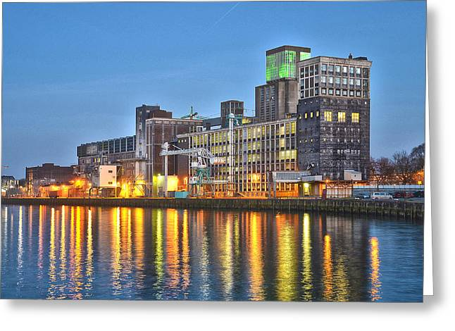 Grain Silo Rotterdam Greeting Card