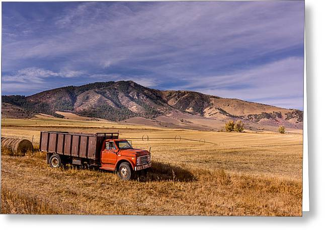 Grain Truck Greeting Card