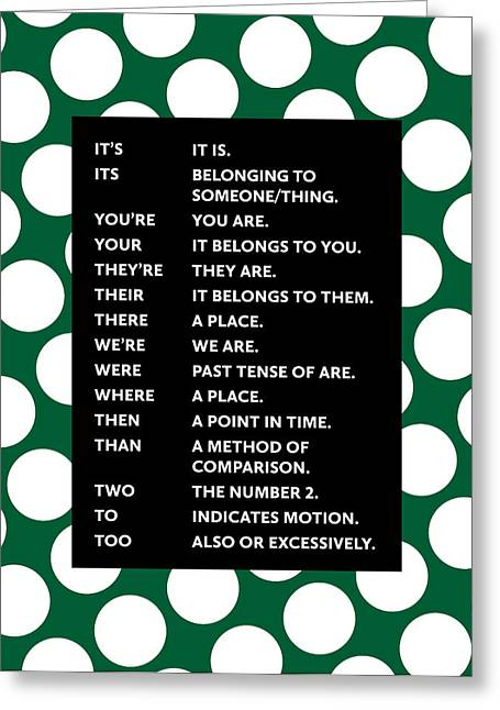 Grammar Rules Greeting Card