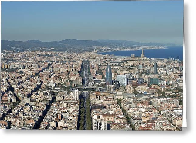 Gran Vía, Eixample, Barcelona Greeting Card by Jordi Todó