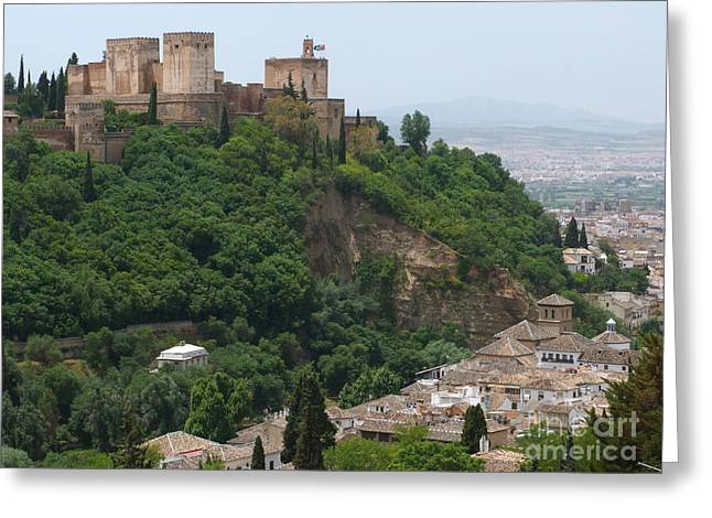 Granada - Alhambra Towers Greeting Card by Phil Banks