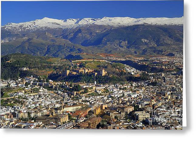 Granada And The Alhambra Greeting Card