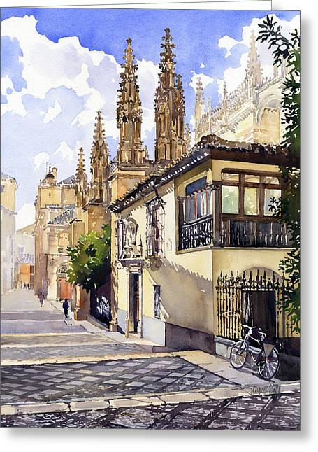 Granada Cathedral Greeting Card by Margaret Merry