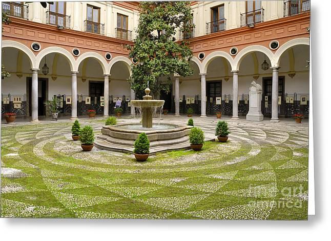 Granada Typical Courtyard Greeting Card