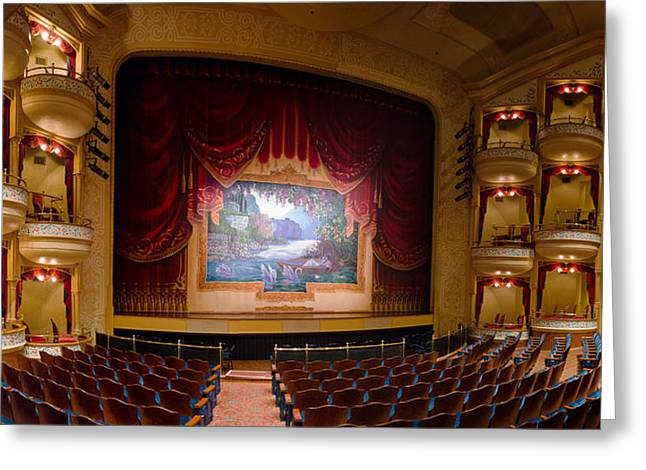 Grand 1894 Opera House - Orchestra Seating Greeting Card
