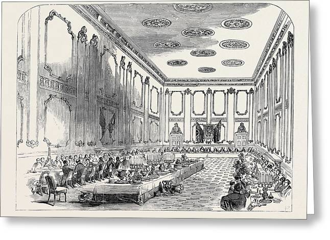 Grand Banquet Of The Officers Of The Coldstream Guards Greeting Card