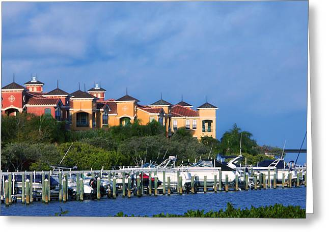 Grand Belagio On Tampa Bay Greeting Card by Michael Kogan