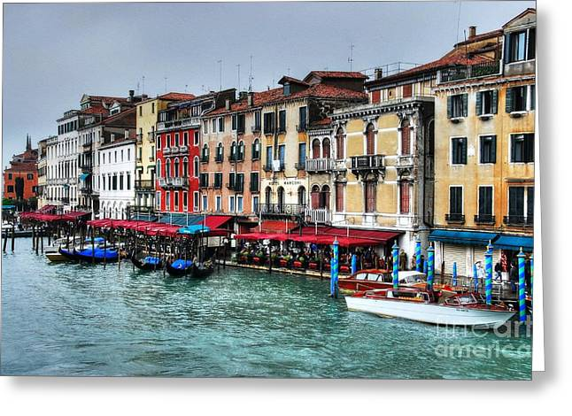 Grand Canal In Venice Greeting Card by Mel Steinhauer