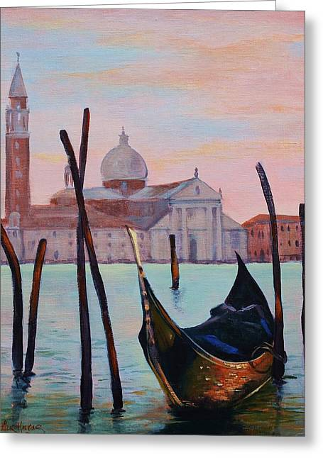 Grand Canal Greeting Card by Kathy  Karas