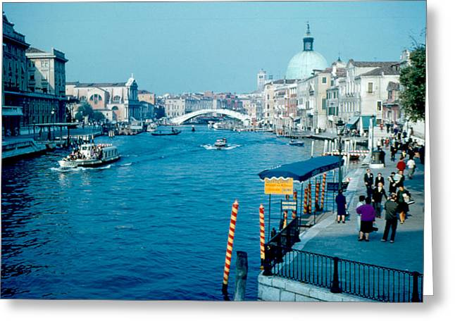 Grand Canal 1961 Greeting Card by Cumberland Warden