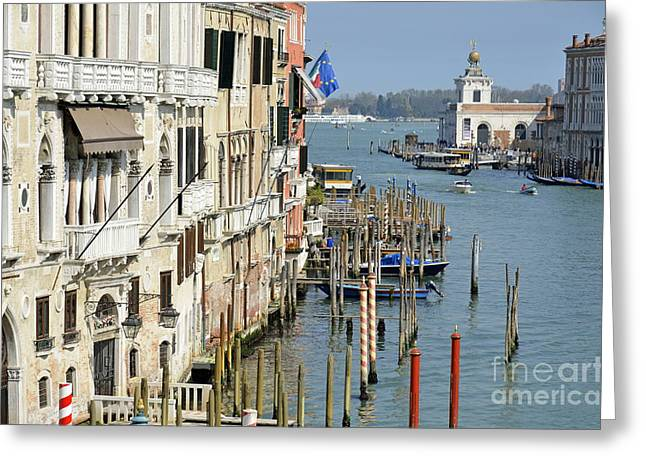 Grand Canal View From Academia Bridge Greeting Card by Sami Sarkis