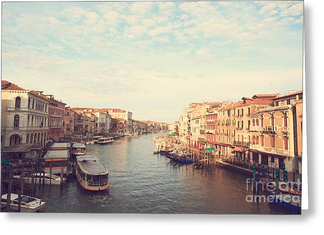 Grand Canal Vintage Style Greeting Card by Matteo Colombo
