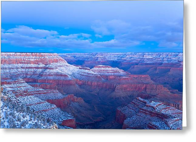 Greeting Card featuring the photograph Grand Canyon At Dawn by Jonathan Nguyen