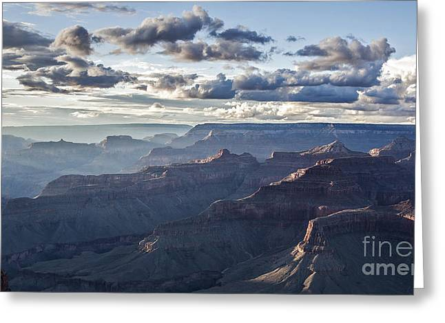 Grand Canyon At Sunset Greeting Card by Shishir Sathe