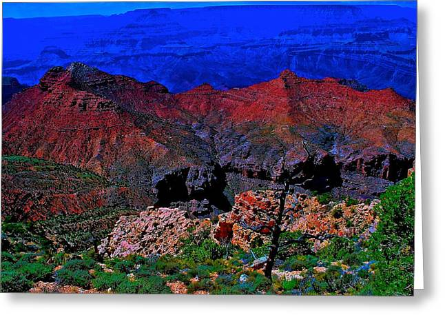 Grand Canyon Beauty Exposed Greeting Card