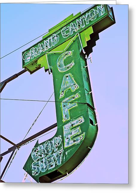 Grand Canyon Cafe Greeting Card