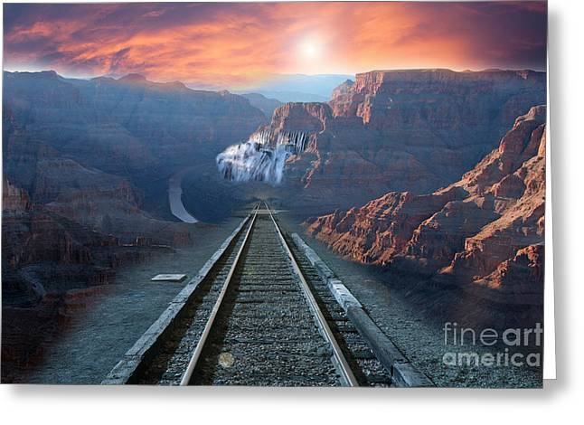 Greeting Card featuring the photograph Grand Canyon Collage by Gunter Nezhoda