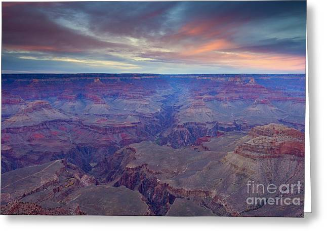 Grand Canyon Dusk Greeting Card by Mike  Dawson