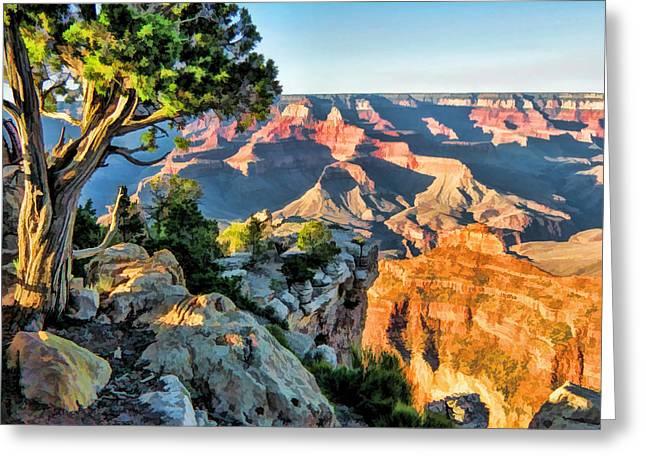 Grand Canyon National Park Ledge Greeting Card