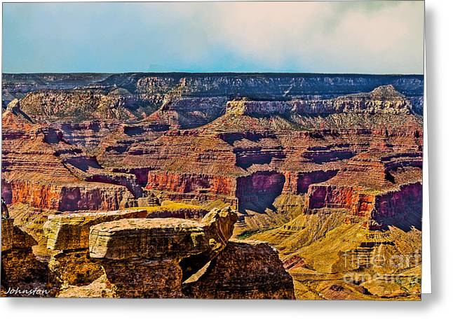 Grand Canyon Mather Viewpoint Greeting Card by Bob and Nadine Johnston