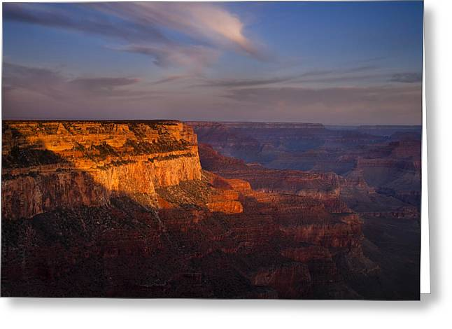 Grand Canyon Morning Greeting Card by Andrew Soundarajan