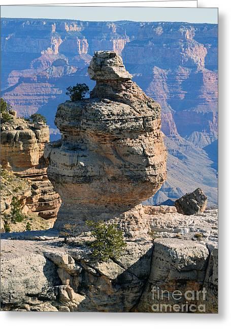 Grand Canyon National Park Cap Rock Formation Greeting Card