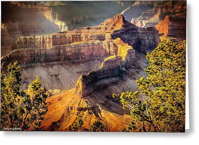 Grand Canyon National Park Greeting Card by Bob and Nadine Johnston