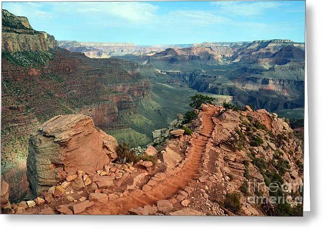 Grand Canyon National Park South Kaibab Trail Greeting Card
