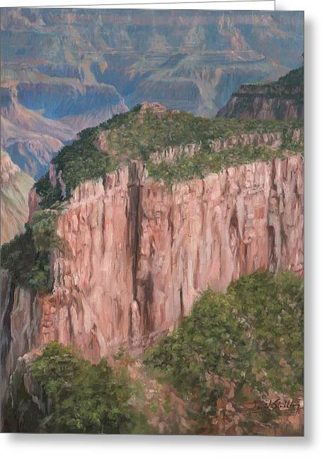 Grand Canyon North Rim Greeting Card by David Stribbling