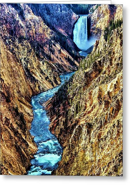 Greeting Card featuring the photograph Grand Canyon Of The Yellowstone by Benjamin Yeager