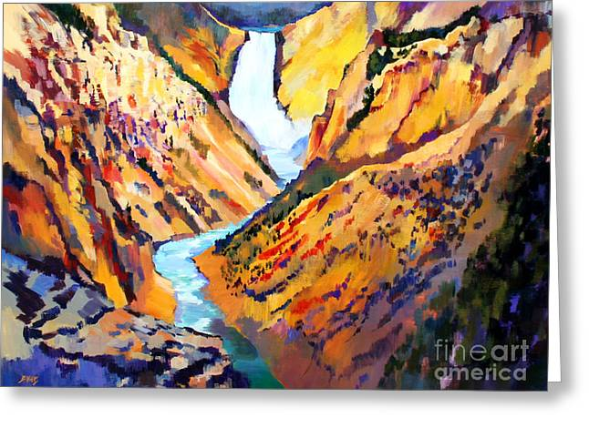 Grand Canyon Of The Yellowstone Greeting Card by Bernard Marks