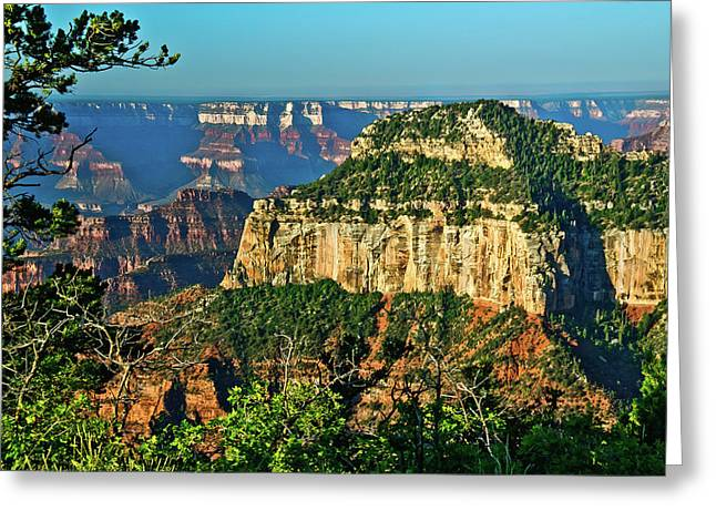 Greeting Card featuring the photograph Grand Canyon Peak Angel Point by Bob and Nadine Johnston