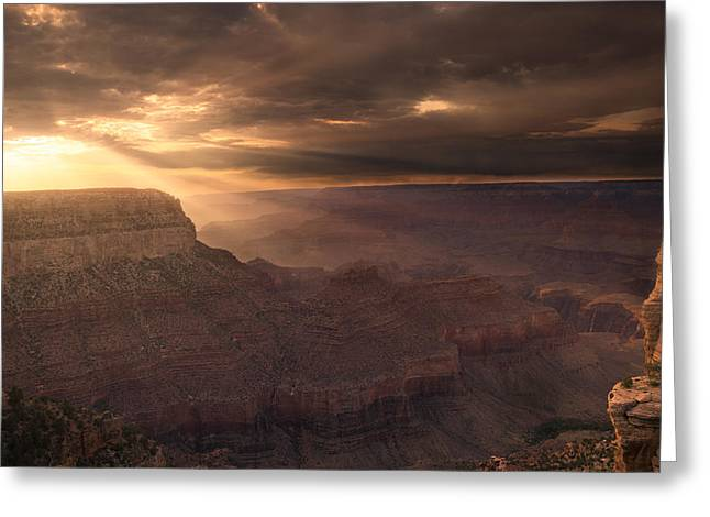 Grand Canyon Red Sunset Greeting Card