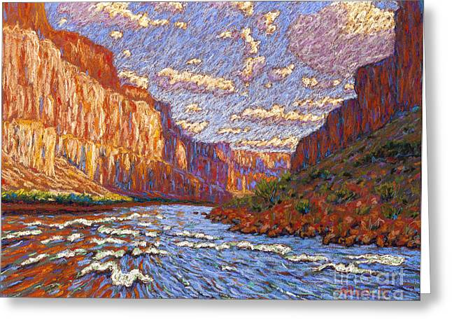 Grand Canyon Riffle Greeting Card by Bryan Allen