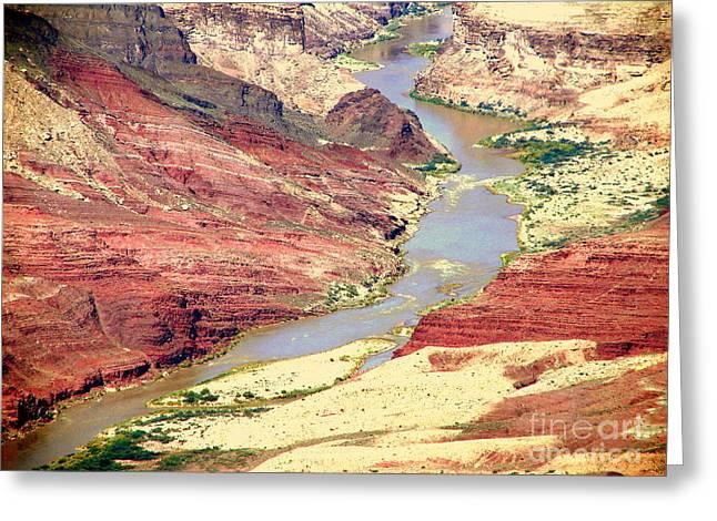Grand Canyon River View Greeting Card by John Potts