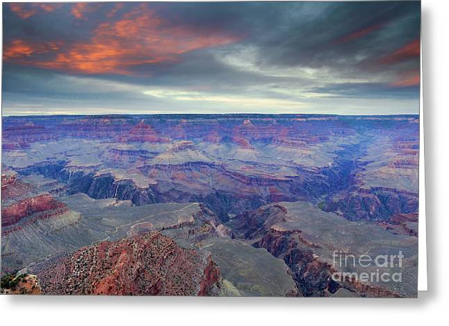 Grand Canyon Storm Set Greeting Card by Mike Dawson