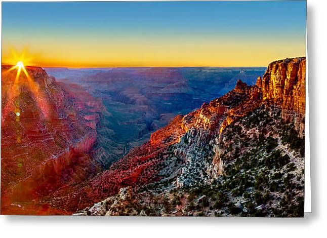 Grand Canyon Sunset Greeting Card by Az Jackson