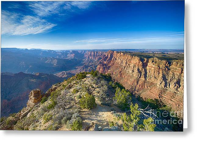 Grand Canyon - Sunset Point Greeting Card by Juergen Klust