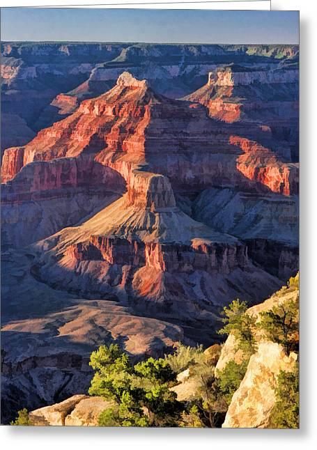 Grand Canyon National Park Sunset Ridge Greeting Card