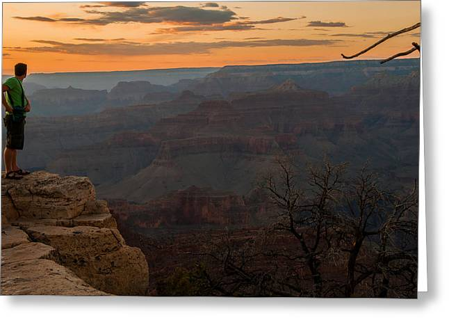Grand Canyon Sunset Wim Greeting Card