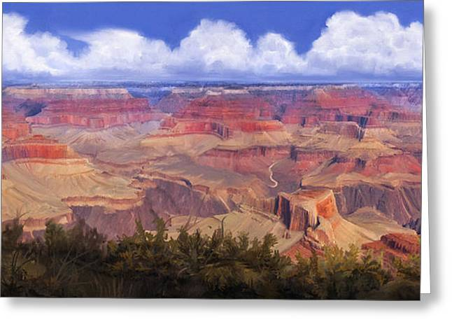 Grand Canyon View Greeting Card by Dale Jackson