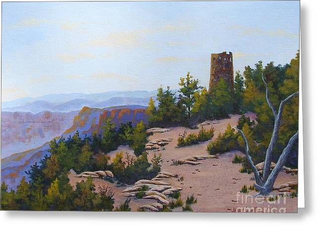 Grand Canyon Watchtower Greeting Card