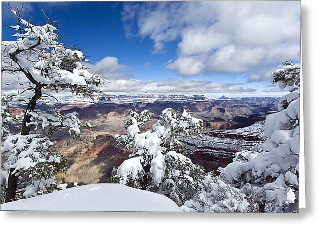 Grand Canyon Winter - 1 Greeting Card