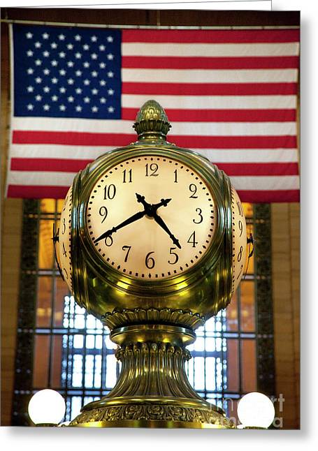 Grand Central Clock Greeting Card by Brian Jannsen