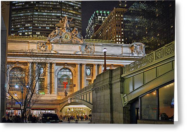 Grand Central Nocturnal Greeting Card