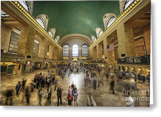 Grand Central Rush Greeting Card