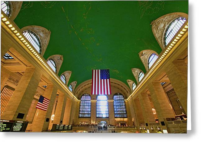 Grand Central Station Panoramic View Greeting Card
