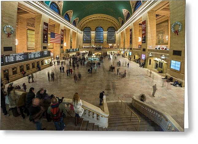 Greeting Card featuring the photograph Grand Central Station by Steve Zimic