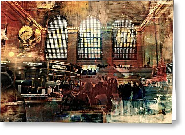 Grand Central Terminal 100 Years Greeting Card by Diana Angstadt