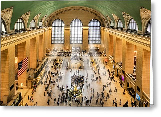 Grand Central Terminal Birds Eye View I Greeting Card